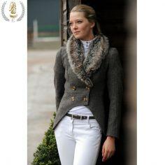 Equiport Gawsworth Tweed Jacket, £395. This stunning cutaway tweed jacket looks amazing with skinny jeans. #equestrian #style #tweed