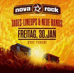 Kurz & schmerzlos: diesen Freitag gibt es brandneue Bands sowie die Tages-Line-Ups für das NOVA ROCK Festival 2015!