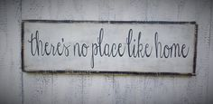 theres no place like home We can also customize a large sign for you. If you would like a custom order please see our Shop Policies for customization policy and fees. If you decide you would like a custom design please conversation us, and we will send you a custom listing with your name on in. --------------------------------------------------------------------------------------------- SIGN SIZE: 37 x 13 BACKGROUND & LETTERING: White & Black (If you would like different colors put them i...