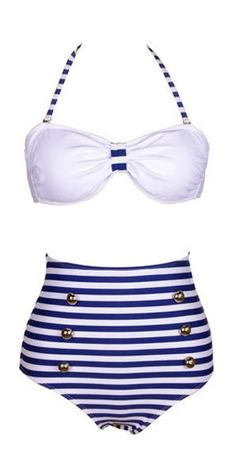 High waisted retro bikini I think I'm going to have to wait till 20 till I can rock this look