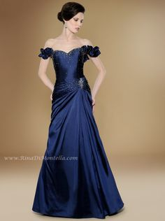 Check out this amazing mother of the bride dress by Rina Di Montella, front, style 1722 SILK GOWN WITH DETACHABLE SLEEVES AND SHAWL  Colors: NAVY, BLACK, BROWN, BURGUNDY, CHAMPAGNE, COCOA, DOVE GRAY, GRAY, IVORY, PURPLE, ROYAL BLUE, TAUPE, TEAL, WILLOW, WINE Sizes: 4-28  http://RinaDiMontella.com/view.php?cat=mother-of-the-bride=1722