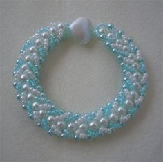Seed Bead Bracelet see blog for more delightful colour choices