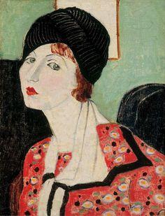 Géza Vörös ca. 1920-9, Portrait of my wife