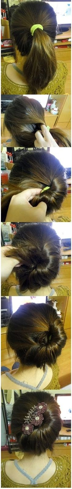 Chingnon Hairstyle - DIY Hairstyle Ready for you Hairstyle - Can Be Made For Little Girls