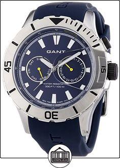 GANT BOSTON Multi - Reloj Analógico de Cuarzo para Hombre, correa de Silicona color Azul de  ✿ Relojes para hombre - (Gama media/alta) ✿