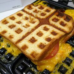 Waffled Grilled Cheese = Best Grilled Cheese Sandwich  Ever!