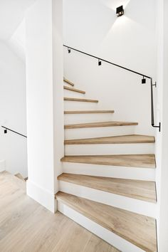 Home Decor > Stairs House Staircase, Staircase Design, Staircase Remodel, Stairway Lighting, Stair Makeover, Modern Stairs, Wood Stairs, Interior Stairs, House Entrance
