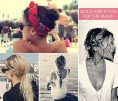 Cute & Quick Beach Looks #hairstyles #summer