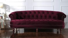 Luxurious Design: This Sofa is Covered in a Polyester Fabric and the Nailhead Trim With the Hand Tufted Design Enhance its Appeal and Makes it a Must Have Item. The Tufting Accentuates the Loveseat and is Complemented by the Hand Rub Finished Legs #frenchcountrysofa