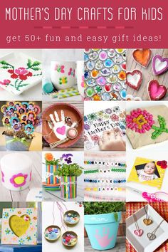 It's hard to figure out what to give your mom, and children especially need help. Here are 50+ great ideas for Mother's Day crafts for kids! Mothers Day Crafts For Kids, Craft Projects For Kids, Cool Diy Projects, Happy Mothers Day, Easy Gifts, Cute Gifts, Cute Pens, Painted Bags, Diy Shops