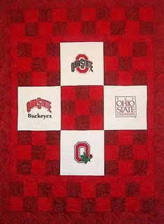 Red Rooster Quilts: Shop | Category: Scarlet and Gray - Ohio State | Product: Ohio State University Buckeyes Quilt Kit