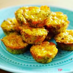Packed with protein these little broccoli cheese quinoa bites message a yummy, healthy appetizer or side dish.  Recipe at tiphero.com/broccoli-cheddar-quinoa-bites  #healthysnacks #healthyrecipes #foodvideos #foodvideo #quinoa #broccoli #muffintin #cheese #resolutions #goodeats #instafood #instayum