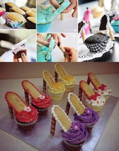 These ADORABLE high heel cupcakes are just perfect for a - Desserts - Cake-Kuchen-Gateau High Heel Cupcakes, Fun Cupcakes, Birthday Cupcakes, Cupcake High Heels, Cupcakes Decoration Awesome, Shoe Cupcakes, Baking Cupcakes, Cupcakes Design, Girl Cupcakes