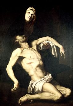 Jusepe de Ribera, Descent from the Cross · Pietà (1630s). Church of Saint-Pierre-de-Montmartre, Paris