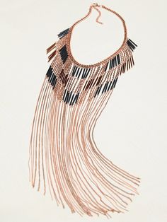 Free People Remi Super Fringe Statement Necklace, R$111.99