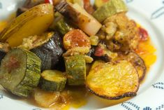 Briam reinvented: a celebration of Mediterranean vegetables Briam, Greek Recipes, Ratatouille, Oven, Sweet Home, Dinner Recipes, Vegetarian, Vegetables, Eat