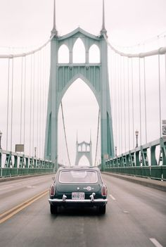 Portland, Oregon, crossing the St Johns Bridge