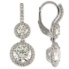Wow! 18K Diamond Double Drop Earrings.