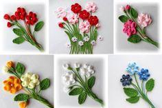 Irish Crochet &: motif for Irish lace. Flowers Irish Crochet &: motif for Irish lace. Paper Quilling Patterns, Quilling Flowers, Diy Flowers, Poppy Flowers, Quilling Ideas, Crochet Flower Patterns, Crochet Flowers, Crochet Hearts, Irish Crochet