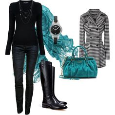 """Fall Outfit"" by mgfrias on Polyvore...I would love this with a pencil skirt and a cowl neck sweater"