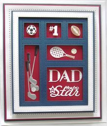 Shadow Boxes Collection You're A Star Die-Sue Wilson Dies - Shadow Box Collection - You're A Star Accessory This set is called You're A Star and will be so useful for those men in your lives. Sue Wilson, In China, Shadow Box, Paper Cards, Men's Cards, Golf Cards, Spellbinders Cards, Birthday Cards For Men, Men Birthday