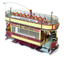 OcCre's impressive model of a London Double-Decker Tramway c. 1903. is a 1/24 wood and metal kit containing all the parts necessary for making an accurate replica. Only £106.95  www.alwayshobbies.com