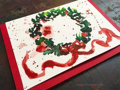 12 Days of Christmas Cards, Wreath 12 unique DIY Christmas Card Tutorials by Jennifer Branch