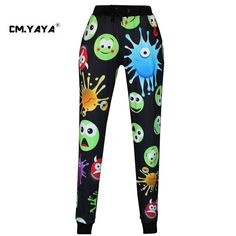 CMYAYA 2016 New Casual Black Print Emoji Men/Women/Girls/Boys Enjoy 50% Discount Jogger Pant at our web shop http://www.aliexpress.com/store/536244