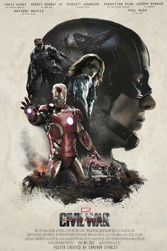 (2/2) โปสเตอร์แฟนเม้ดจาก Captain America : Civil War ในสไตล์ Sicario via fb.Filmzlap