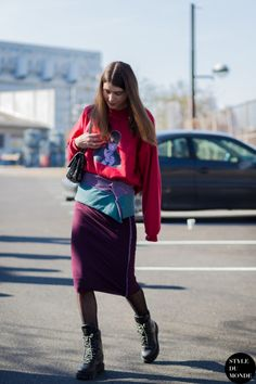 Ursina Gysi after Kenzo fashion show (Style Du Monde)