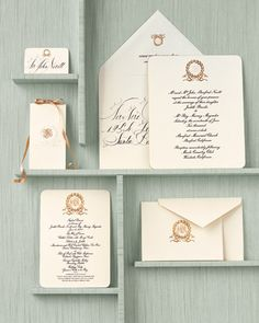 high-end stationary with calligraphy by bernard maisner