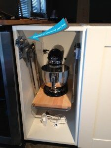 Ikea hack - kitchen aid pullout--brilliant