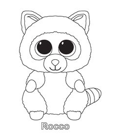 rocco beanie boo coloring pages printable and coloring book to print for free find more coloring pages online for kids and adults of rocco beanie boo