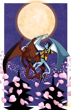 """supinternets: """"Fan art from one of my shows as a kid, and let's be real as an adult too. You think drawing people is hard? Try adding wings, tails and. Gargoyles Characters, Gargoyles Cartoon, Fantasy Characters, Disney Gargoyles, Disney Characters, Katana, Gargoyles Brooklyn, Dragon Images, Legendary Creature"""