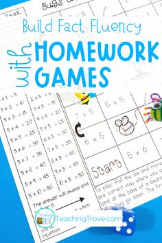 Make homework fun for your year 3 or fourth grade students by sending home multiplication strategy games. These engaging printables are perfect for mental math practice. Each game provides students and parents with the mental math strategy needed to help them memorize the answers to their multiplication facts. Such an easy way for students to learn their multiplication facts and have fun doing it! #homeworkideas #multiplicationgames