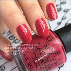 """OPI """"By Popular Vote"""" polish from its """"Washington DC Fall/Winter 2016"""" collection, Lovely color!"""