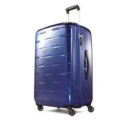"""Samsonite Spin Trunk 29"""" Spinner in the color Blue.   Good angle for photography"""