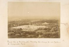 General view of Mandalay from Mandalay Hill, showing the 450 pagodas and the Incomparable Pagoda. From New York Public Library Digital Collections. Yangon, Mandalay, New York Public Library, Old Photos, Egypt, City, Digital, Photographs, Collections