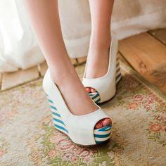Japanese Platform Peep Toe High Heel Casual Summer Popular Wedge Sandals