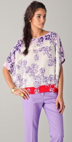 Shades of purple must be very popular this spring - I love it!