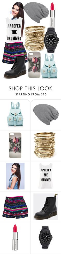 """~Im More Of The Drummer Type <3 ~"" by beautybyabbyx9 ❤ liked on Polyvore featuring Forever New, With Love From CA, Amrita Singh, H&M, Dr. Martens, Givenchy and Vince Camuto"