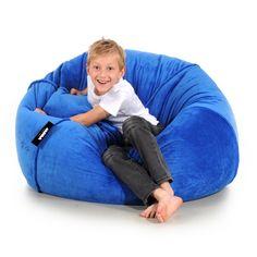 BeanBag PLUSH blue for children - JABBA Design Bean Bag Chair, Babe, Plush, Children, Furniture, Design, Home Decor, Young Children, Boys