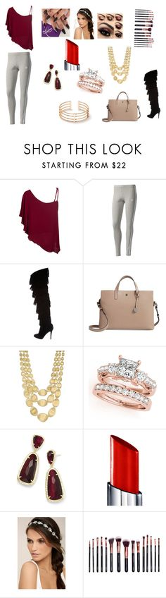 """""""just walking on the streets"""" by jlamolsch on Polyvore featuring adidas Originals, Christian Louboutin, Lodis, Marco Bicego, Kendra Scott, By Terry, LULUS and M.O.T.D Cosmetics"""