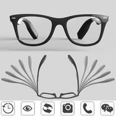 MOMON sc-8011-1 Intelligent Bluetooth Eyewear Glasses Motion Detection Remind Glasses Bluetooth Health Glasses With Pedometer Call Remind Selfie Shoot Anti-lost Multifunction Smart Glasses Sale - Banggood.com