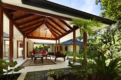 The classic pavillion-style pole house in Trinity Beach, Far North Queensland featured in Episode 5 of Grand Designs Australia Series 2 .