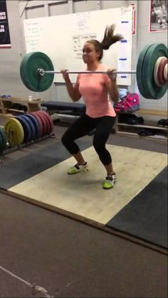 Slo Mo Power Clean, great form #crossfit #weightlifting