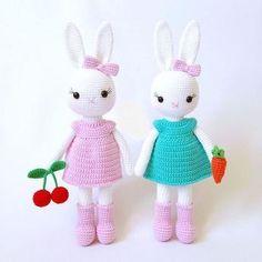 Mesmerizing Crochet an Amigurumi Rabbit Ideas. Lovely Crochet an Amigurumi Rabbit Ideas. Crochet Animal Patterns, Crochet Patterns Amigurumi, Baby Knitting Patterns, Crochet Dolls, Amigurumi Doll, Free Knitting, Easter Crochet, Cute Crochet, Crochet Mignon