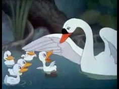 """""""The Ugly Duckling"""" Walt Disney Version of the literary fairy tale by Danish poet and author Hans Christian Andersen Disney Full Movies, Walt Disney Cartoons, Carnival Of The Animals, Ugly Duckling, Cartoon Gifs, Classic Cartoons, Vintage Cartoon, Mickey And Friends, Nursery Rhymes"""