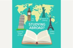 Abroad studying by on London Map, Travel Icon, First Contact, Travel Abroad, Study Abroad, Magazine Design, Graphic Illustration, Studying, Education
