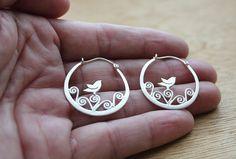 Silver bird hoops- https://www.etsy.com/listing/90349932/silver-bird-earrings-tiny-bird-earrings